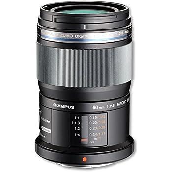 Olympus M.Zuiko digital ED 60 mm / F 2,8 M.ED MACRO - Objetivo para Micro Cuatro Tercios (distancia focal fija 120mm, apertura f/2.8-22) color negro