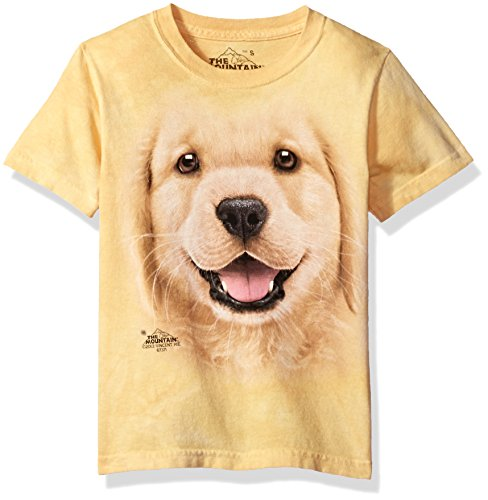 The Mountain Kinder Golden Retriever Puppy T-Shirt, Herren, 153743, gelb, Large (Bildschirm-drucker T-shirt)