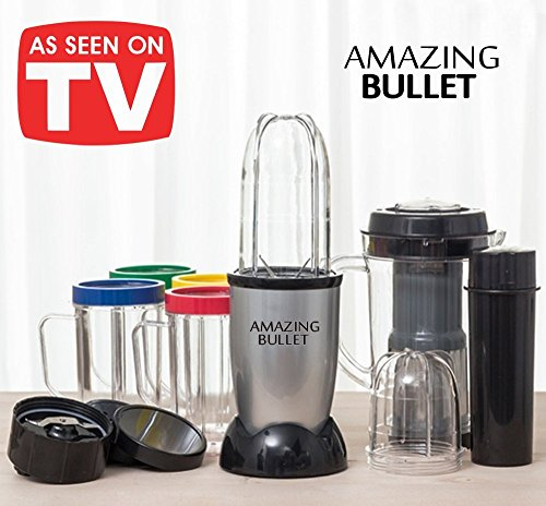 Magic Bullet Elektro-Mixer, 21Teile, mit zusätzlichem Entsafter-Set