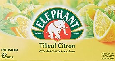 Elephant Infusion Tilleul Citron 25 Sachets 35g - Lot de 4