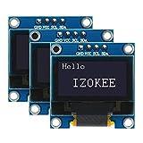 IZOKEE OLED LCD Display I2C IIC 0.96 Pollici 128x64 Pixel Chip SSD1306 per Microcontrollore Arduino Raspberry Pi 51 Serie, MSP430 Seri, STIM32 / 2, SCR ECC. (3 Pezzo, Bianco IIC)