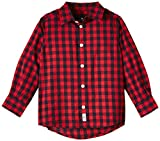 TOM TAILOR Kids Jungen Hemd Two - Colored Checked shirt/507, Gr. 122 (Herstellergröße: 116/122), Rot (Red Mars 5516)