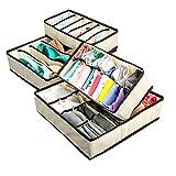 ACLBB Faltbarer Schrankteiler, 4-Teiliger Schubladenmanager, Unterwäsche, Socken, Krawatte Und Zubehör
