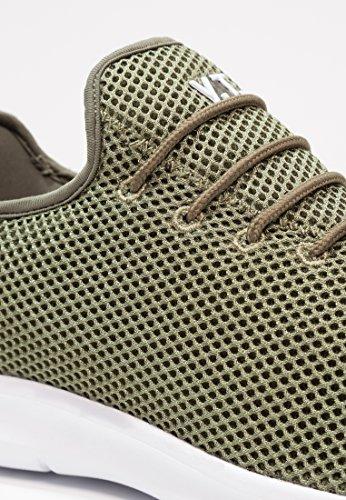 Yourturn Slip On Sneaker Uomo In Nero, Blu, Rosso O Verde Oliva ? Sneakers Basse Con Sneakers In Mesh Suola Bianca Verde Oliva