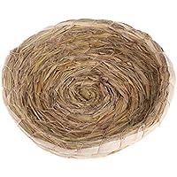 SimpleLife Gabbia Fatta a Mano della casa Calda del Letto della Paglia Naturale Tessuta Nido del Piccione cavie del Coniglio