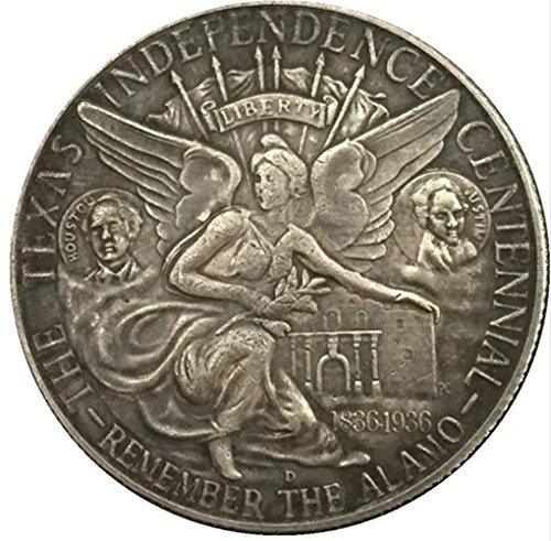 Bespoke Souvenirs Rare Antique United States America 1935 Half Dollar Texas Silver Color Coin Seltene Münze -