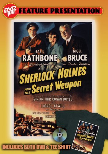 Sherlock Holmes and the Secret Weapon (+ Tee Shirt, Size L) by Basil Rathbone