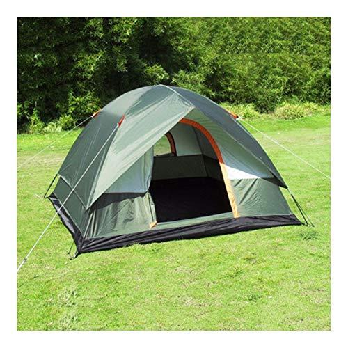 ERLIANG Outdoor Anti-Sturm-Campingzelt 4 Personen Doppelschicht super wasserdichtes Gummi-Campingzelt