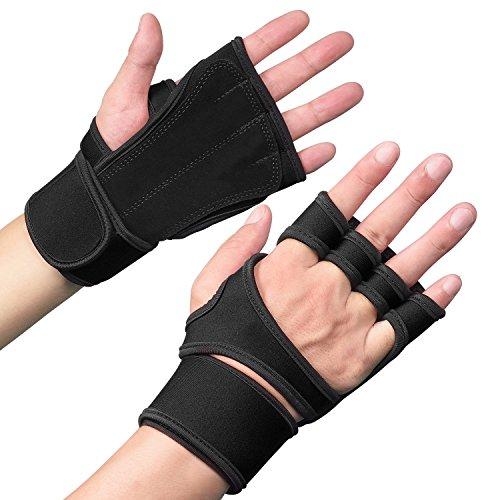 Fitness Handschue mit verstellbarer Handgelenkbandage für Damen&Herren, Fullmosa Will Series Trainingshandschuhe mit Handgelenkstütze Fitness - Accessoires für Gewichtheben, Bodybuilding, Krafttraining und Gym/Sporttraining -M-B