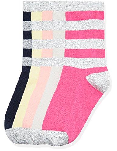 RED WAGON Girl's Glitter Stripe Ankle Socks 5-Pack