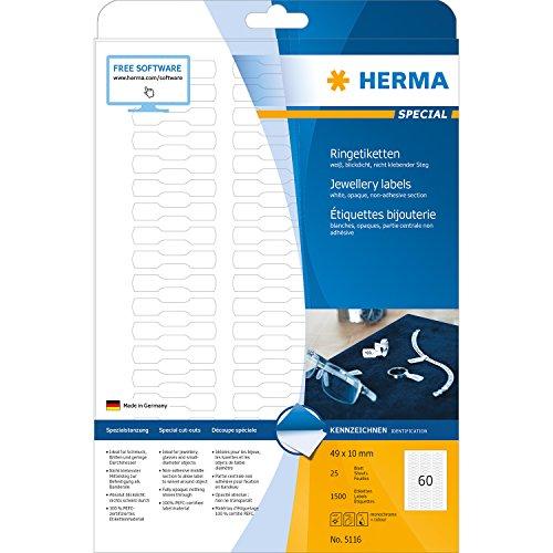 Herma 5116 - Paquete de 1500 etiquetas adhesivas (49 x 10 mm,...