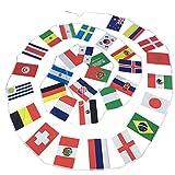 LUOEM Banner de Copa Mundial 2018 32 Naciones Decoraciones para Bar Hogar Exterior 9M