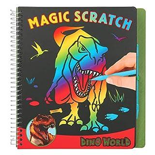 Depesche 10363 Magic Scratch Book Dino World Multicoloured