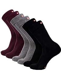 DANISH ENDURANCE Chaussettes en Coton, pour homme et femme, contrôle de l'humidité, rembourrage doux, multipack, fabriqué dans l'UE, parfaites pour le printemps