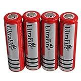 Best Vendeurs Cuisines - 4xUltraFire 18650 3000mAh 3.7V batterie rechargeable rouge Review