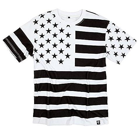 BLVD Supply Men's Trap Flag SS T Shirt White XL