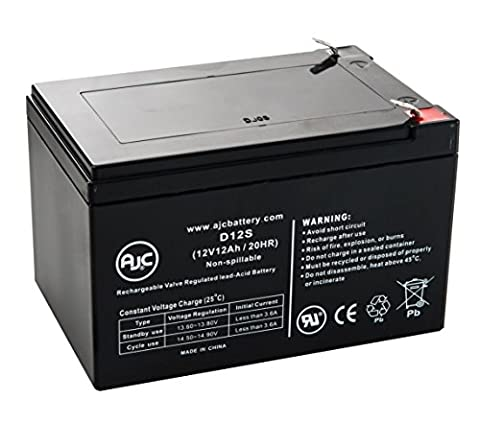 Currie I-Zip Chopper Electric Bike 12V 12Ah Scooter Battery - This is an AJC Brand® Replacement