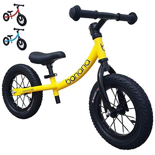 Banana GT - Laufrad 12 Zoll Lauflernrad Kinderrad für Jungen und Mädchen Kinder 2, 3, 4 und 5 Jahre (Gelb)