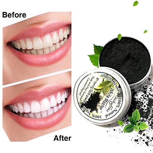 LuckyFine Natürliches Bamboo charcoal schwarz Zahn Pulver, Teeth Whitening, entfernen Zähne Flecken Test