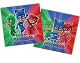 PICCOLI MONELLI Serviettes PJ Masques superpigiamini Anniversaire 40 pcs