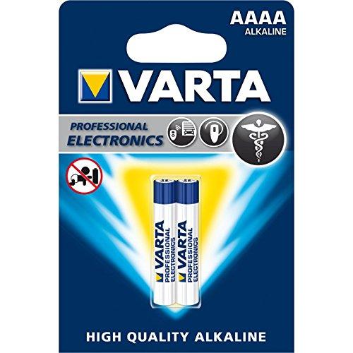 VARTA AAAA - LR61 - MN 2500 - LR8D425, 4061101402, Batterie Alcalina, 1,5 Volts, Diametro 8,2 mm, Altezza 40,2 mm, Confezione 2 pile
