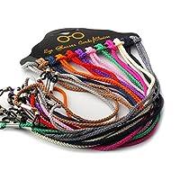 erioctry Braided Set Of 12Pcs Colorful Nylon Eyeglass Strap Reading Sunglass Neck Strap Eyewear Retainer Rope Holder