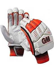 Gunn & Moore 505 Niño Hombre Guantes De Bateo Críquet Blanco / Rojo - Blanco, Right Hand - Mens