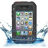 iProtect iPhone 4 / 4s Outdoor Case Schutzhülle Hartglas Shock- and Dirtproof in schwarz