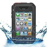 Mapater iProtect iPhone 4/4s Outdoor Case Schutzhülle Hartglas Shock- and Dirtproof in schwarz