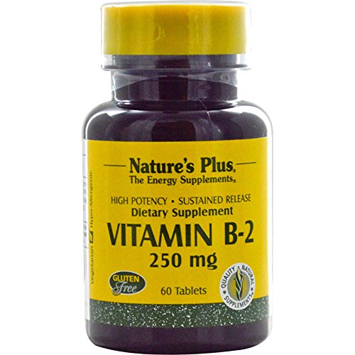 Nature's Plus Vitamin B-2 (Riboflavin) 250mg 60 Tabletten S/R