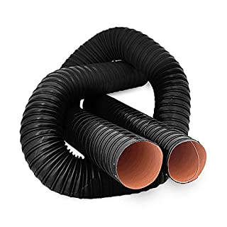 102mm ID 1 Metre Length 2 PLY Black Silicone Ducting - AutoSiliconeHoses