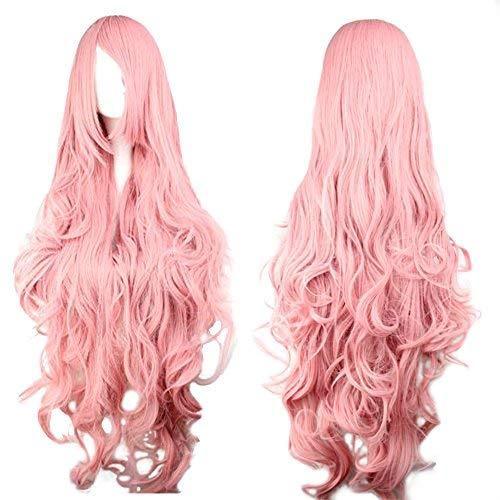 Bilder Kostüm Pink Lady - Perücke Pink Rosa ca. 90cm für VOCALOID Luka Cosplay oder Schaufensterpuppen Karneval oder Mottoparties