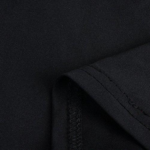 Rcool gilet Donna, Sexy Tinta unita Halter Camicia a maniche corte casuale sportivo top T shirt Nero