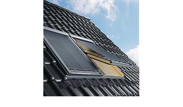 Uni Schwarz Y40 Y45 Y47 VELUX Original Hitzeschutz-Markise au/ßen Dachfenster Y43