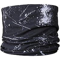 Braga para el cuello, pañuelo de microfibra multifunción, diseño de salpicaduras de negro