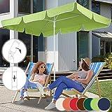Parasol Rectangulaire   180 x 120 cm, Hauteur Réglable, Inclinable, Protection UV 30+, Polyester, Couleurs au Choix   Parasol de Jardin, Terrasse, Balcon (Vert Citron)