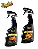 PRAKTISCHES PREMIUM SET MEGUIAR'S 473ml LEDERREINIGER Gold Class Leather & Vinyl Cleaner + 450ml LEDERPFLEGE Gold Class Leather Conditioner