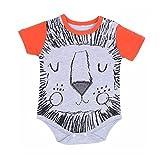 Samber Baby Short-sleeved Romper Cute Cartoon Jumpsuits