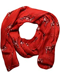 Women Scarf Stags Print Design Lightweight Scarves for Lady