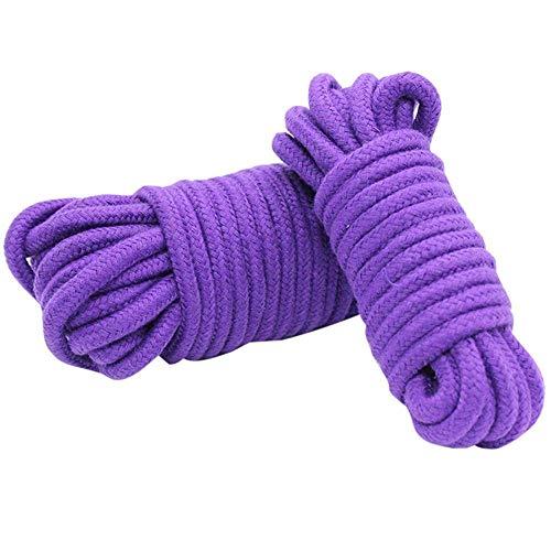 Juguetes sexuales - 10M Thicken Cotton Bondage Cuerda Cuerda Suave al Tacto...