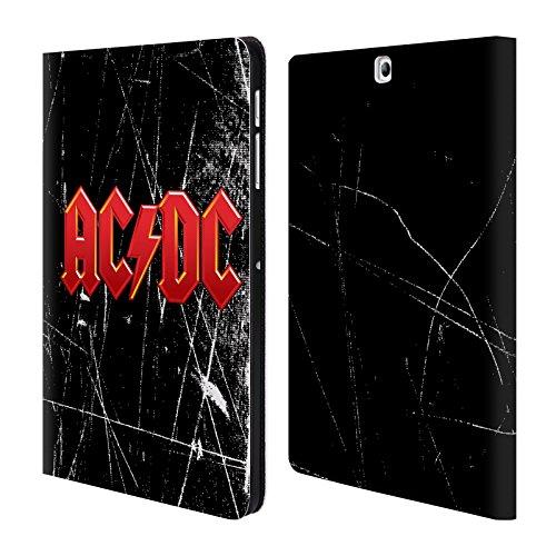 Head Case Designs Offizielle AC/DC ACDC Rot Logo Brieftasche Handyhülle aus Leder für Samsung Galaxy Tab S2 9.7