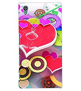 ColourCraft Love Pattern Design Back Case Cover for SONY XPERIA Z5