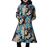 Luckycat Frauen Plus Size Wintermantel Folk Custom Baumwolle gepolsterte Druckjacke Jacken Mäntel Sweatjacke Winterjacke Fleecejacke Steppjacke