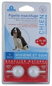 Demavic Pipettes Insectifuges pour Chien Moyen 15-30 kg