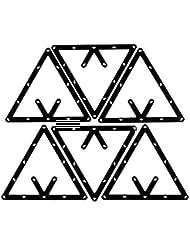 SODIAL Accessorio per Stecca da Biliardo per Posizionamento Bilanciere Triangolo da 6 Pezzi