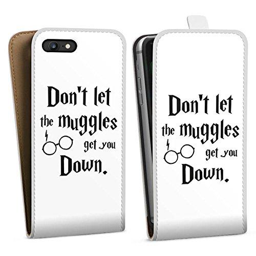Apple iPhone X Silikon Hülle Case Schutzhülle Muggles Statement Harry Potter Downflip Tasche weiß