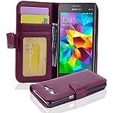 Cadorabo - Funda Samsung Galaxy GRAND PRIME (G5308W) Book Style de Cuero Sintético en Diseño Libro - Etui Case Cover Carcasa Caja Protección con Tarjetero en BURDEOS-VIOLETA