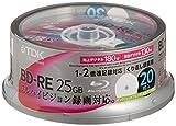 TDK Blu-Ray BD-RE Rewritable 25GB 2x Speed - 20 Pack Spindle - Printable