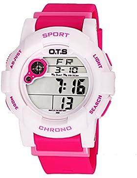 Electronic watch wasserdicht night light alarm multi-funktion outdoor sports-F