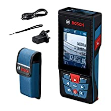 Bosch Professional laser measure GLM 120 C (integrated camera, data transfer via Bluetooth, range: 0.08–120 m, carrying strap, micro USB cable and charger)